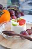 Fruity Pudding Royalty Free Stock Photography