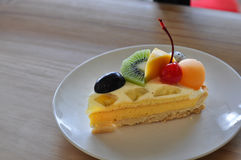 Fruity serowy kulebiak Zdjęcia Royalty Free