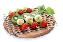 Fruity shishkabobs Stock Image