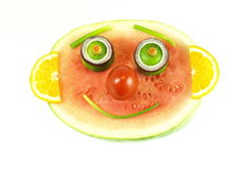 Fruity smile, isolated Royalty Free Stock Photography