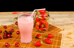 Fruity smoothie Stock Photos