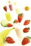 Fruity smoothies Royalty Free Stock Images