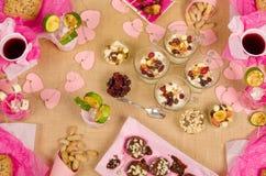 Fruity snacks Stock Photos