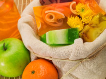 Fruity Soaps Stock Photography