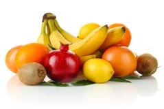 Fruity still life. On white background Stock Photo