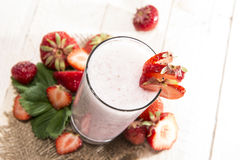 Fruity Strawberry Milkshake Royalty Free Stock Photos