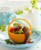 Fruity summer salad Royalty Free Stock Image