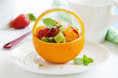 Fruity summer salad Royalty Free Stock Photos