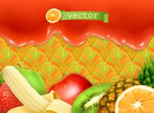 Fruity sweet background Royalty Free Stock Images