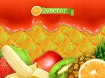 Fruity sweet background. Vector illustration stock illustration