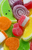 Fruity Sweets. Colorful jelly candies covered in sugar Stock Images
