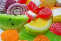 Fruity Sweets. Colorful jelly candies covered in sugar Stock Photography