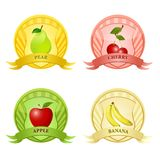 Fruity tags Royalty Free Stock Photo