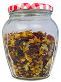 Fruity tea in a jar Royalty Free Stock Images