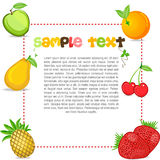 Fruity text template Stock Photo