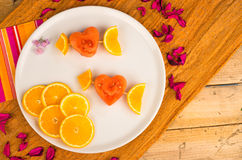 Fruity Valentines dessert Royalty Free Stock Photo