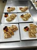 Fruity Waffles. Waffles with fruit Stock Photography