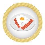 Frukostägg med bacon Fotografering för Bildbyråer