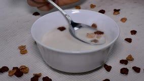 Frukost stock video