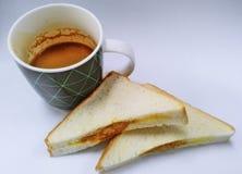 Frukost av affärsmannen Arkivfoto