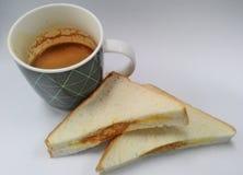 Frukost av affärsmannen Arkivbild