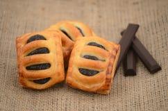 Frukost av chokladtrippeln Arkivfoton
