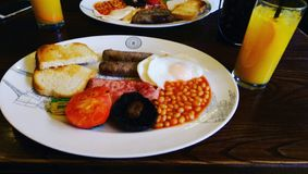 frukost british Arkivfoto