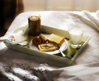 frukost för 3 underlag Arkivbilder