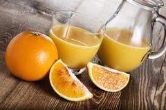 Frukost för orange fruktsaft Royaltyfri Bild