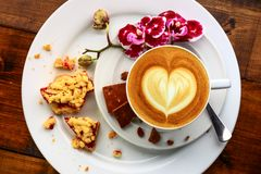 Frukost i kafét Royaltyfri Fotografi