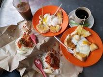 Frukost i penang, Malaysia royaltyfri bild