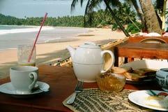 Frukost i Sri Lanka Arkivfoto