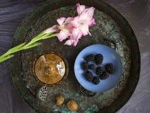 Frukost i trädgård Royaltyfria Bilder
