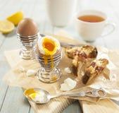Frukost med ägg Arkivfoto
