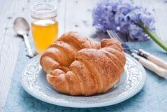 Frukost med giffel Arkivfoton