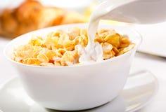 Frukost med havreflakes Royaltyfria Bilder