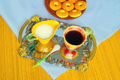 Frukost morgonkaffe Royaltyfri Bild