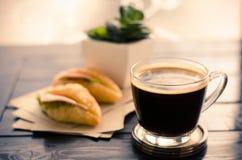 Frukost och kaffe Arkivfoton