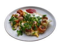 Frukost på en platta Royaltyfri Foto