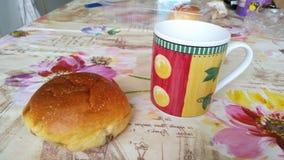 Frukost på en tabell Royaltyfri Fotografi