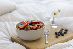 Frukost på sängen Royaltyfria Foton