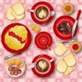 frukost som jag älskar Arkivbilder