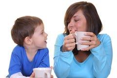 frukost tillsammans Fotografering för Bildbyråer