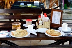 frukost två royaltyfria foton