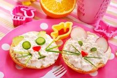 frukostbarn Royaltyfria Bilder