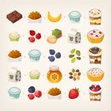 Frukostblandning av mat vektor illustrationer