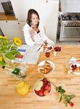 frukostchampagne Royaltyfri Foto