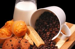 frukostcofee Arkivfoto