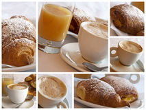 frukostcollageitalienare Arkivbild