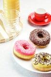 frukostdonuts Royaltyfri Fotografi